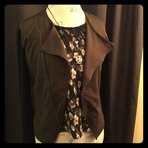 Lush Floral with Lace Detail Top
